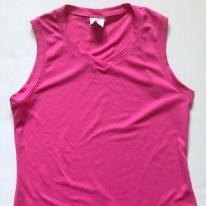 Pink workout tank
